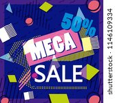 mega sale discounts banner...   Shutterstock .eps vector #1146109334