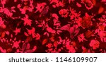 wide seamless floral pattern.... | Shutterstock .eps vector #1146109907