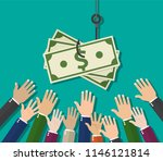 hands reaching out to get money ... | Shutterstock .eps vector #1146121814