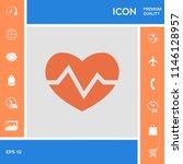 heart medical icon   Shutterstock .eps vector #1146128957