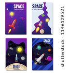 set of space template   space... | Shutterstock .eps vector #1146129521