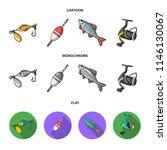 fishing  fish  catch  hook ... | Shutterstock . vector #1146130067