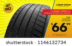 tire car advertisement poster.... | Shutterstock .eps vector #1146132734