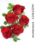 Stock photo a bunch of red roses 114613294