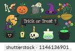 vector elements halloween... | Shutterstock .eps vector #1146136901
