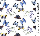 watercolor pattern with...   Shutterstock . vector #1146140207