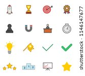 success icons set simple flat...
