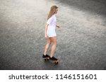 young beautiful blonde girl... | Shutterstock . vector #1146151601