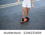 young beautiful blonde girl... | Shutterstock . vector #1146151604