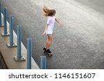 young beautiful blonde girl... | Shutterstock . vector #1146151607