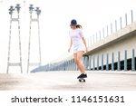 young beautiful blonde girl... | Shutterstock . vector #1146151631