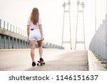 young beautiful blonde girl... | Shutterstock . vector #1146151637
