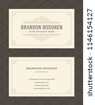 luxury business card and... | Shutterstock .eps vector #1146154127