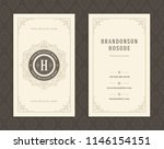 luxury business card and... | Shutterstock .eps vector #1146154151