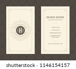 luxury business card and... | Shutterstock .eps vector #1146154157