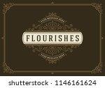 vintage ornament greeting card... | Shutterstock .eps vector #1146161624
