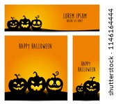 happy halloween vector ... | Shutterstock .eps vector #1146164444
