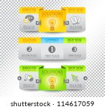 collection of web elements ... | Shutterstock .eps vector #114617059