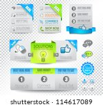 collection of web elements ... | Shutterstock .eps vector #114617089