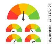 customer satisfaction meter... | Shutterstock .eps vector #1146171404