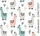 childish seamless pattern with... | Shutterstock .eps vector #1146172217