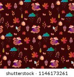 cute autumn pattern with... | Shutterstock .eps vector #1146173261
