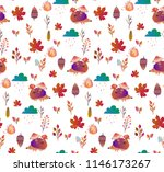 cute autumn pattern with... | Shutterstock .eps vector #1146173267