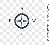 compass vector icon isolated on ... | Shutterstock .eps vector #1146176957