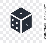 dice vector icon isolated on... | Shutterstock .eps vector #1146178094