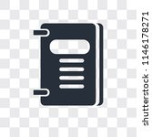 agenda vector icon isolated on... | Shutterstock .eps vector #1146178271