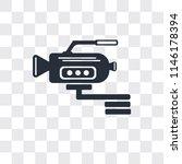 video camera side view vector... | Shutterstock .eps vector #1146178394