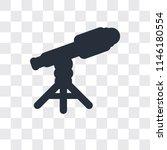 telescope vector icon isolated... | Shutterstock .eps vector #1146180554