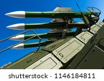 ballistic missile launcher with ... | Shutterstock . vector #1146184811