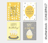 happy birthday greeting card ... | Shutterstock .eps vector #1146189617