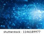 bulb future technology ... | Shutterstock . vector #1146189977