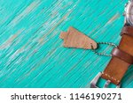 leather label on rustic wood... | Shutterstock . vector #1146190271