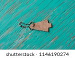 leather label on rustic wood... | Shutterstock . vector #1146190274
