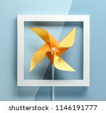 pinwheel and frame on pastel... | Shutterstock . vector #1146191777