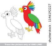 drawing worksheet for preschool ... | Shutterstock .eps vector #1146192227