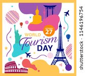 world tourism day logo template ... | Shutterstock .eps vector #1146196754