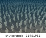 illustrations of lots of people | Shutterstock . vector #11461981