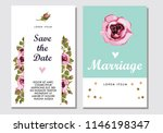 botanic card with roses ... | Shutterstock .eps vector #1146198347