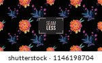 mexican marigold and embroidery ... | Shutterstock .eps vector #1146198704