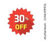 30  label discount | Shutterstock .eps vector #1146199931