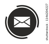 message icon. mail symbol.... | Shutterstock .eps vector #1146204227