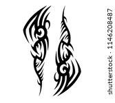 tribal pattern tattoo art deco... | Shutterstock .eps vector #1146208487