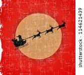 Santa  Of Christmas On Old...