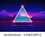 retro styled futuristic... | Shutterstock . vector #1146216911