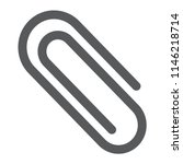 clip glyph icon  office and...   Shutterstock .eps vector #1146218714