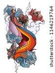 thai fighting fish tattoo... | Shutterstock .eps vector #1146219764